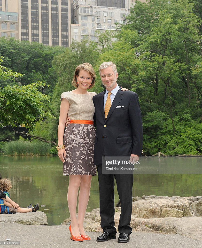 Prince Philippe And Princess Mathilde Of Belgium Visit Central Park