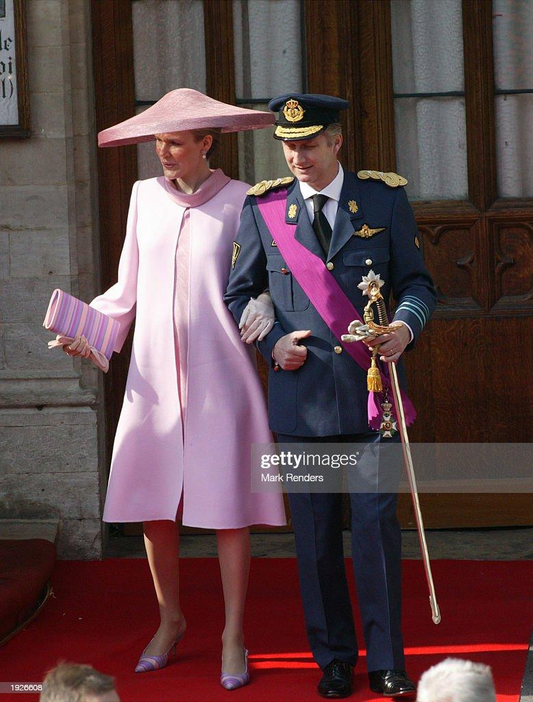 Prince Laurent Of Belgium Marries Claire Coombs : Nieuwsfoto's