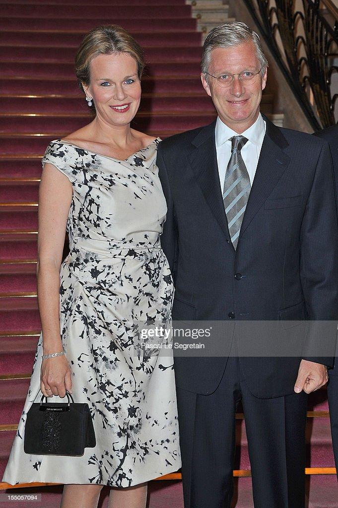 Prince Philippe & Princess Mathilde Attend 'Liege A Paris' Concert