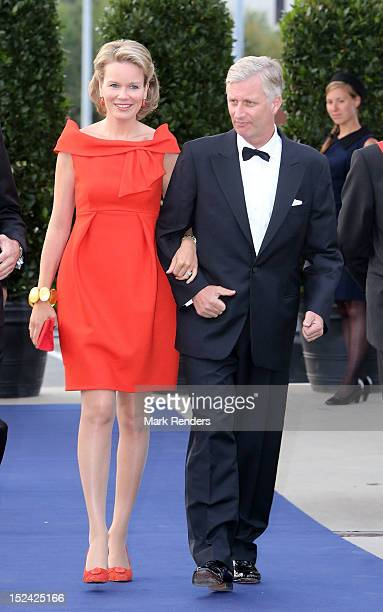 Princess Mathilde and Prince Philippe of Belgium attend a Gala for the King Baudouin Foundation at Kortrijk Expo Hallen at on September 20, 2012 in...