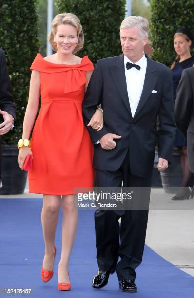 Princess Mathilde and Prince Philippe of Belgium attend a Gala for the King Baudouin Foundation at Kortrijk Expo Hallen on September 20 2012 in...