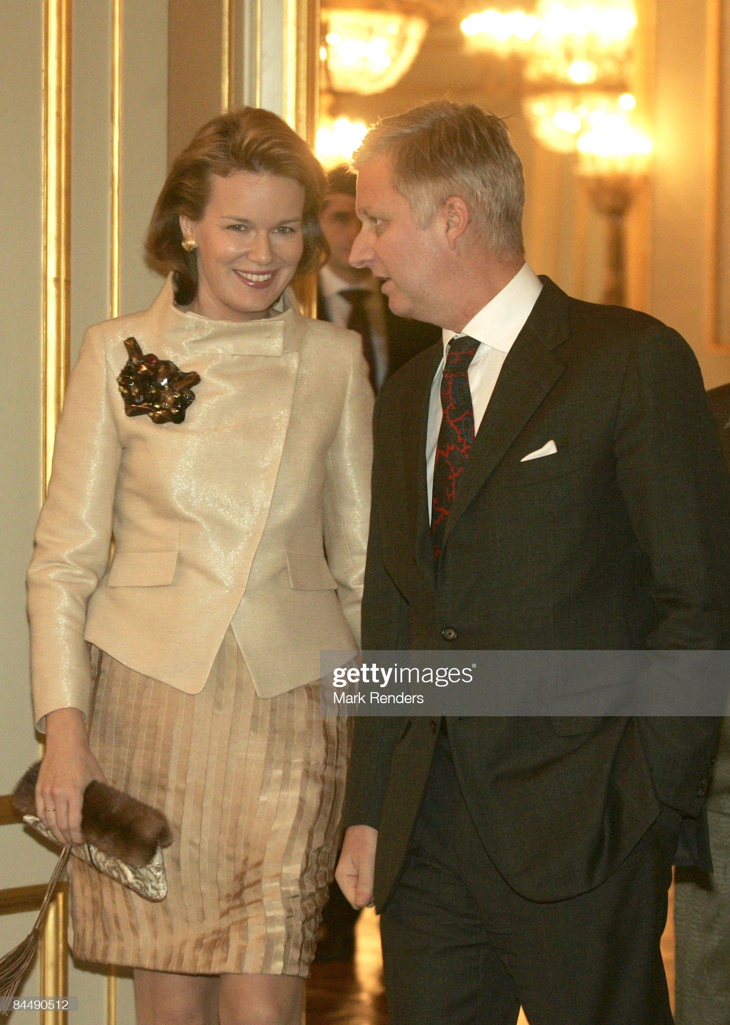 Вечерние наряды Королевы Матильды Belgium Royals Hold a New Year Reception : News Photo