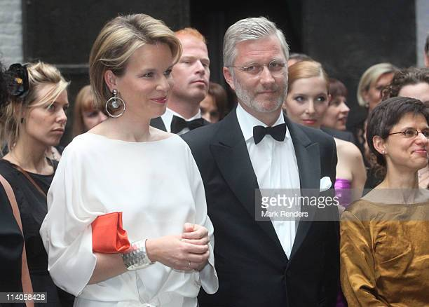 Princess Mathilde and Prince Philippe of Belgium attend the 16th Gala Event for King Baudouin Foundation at FelixPakhuis on May 10 2011 in Antwerpen...