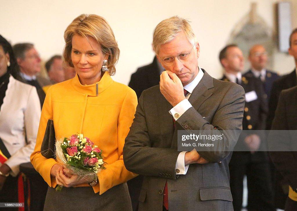 Prince Philippe And Princess Mathilde Visit Brabant Wallon : News Photo