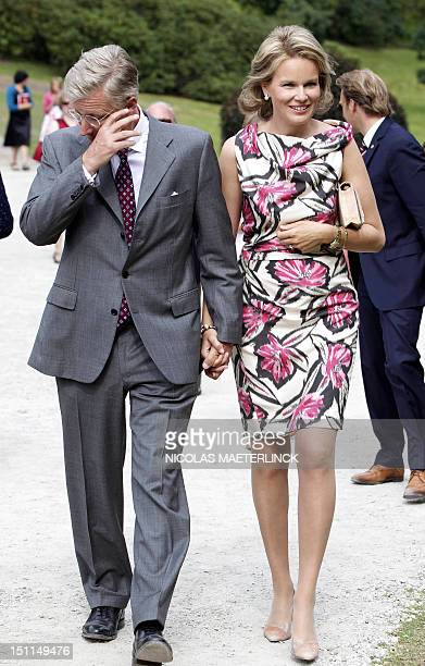 Princess Mathilde of Belgium and Crown Prince Philippe of Belgium attend celebrations marking the 20th anniversary of the Queen Paola Foundation, at...