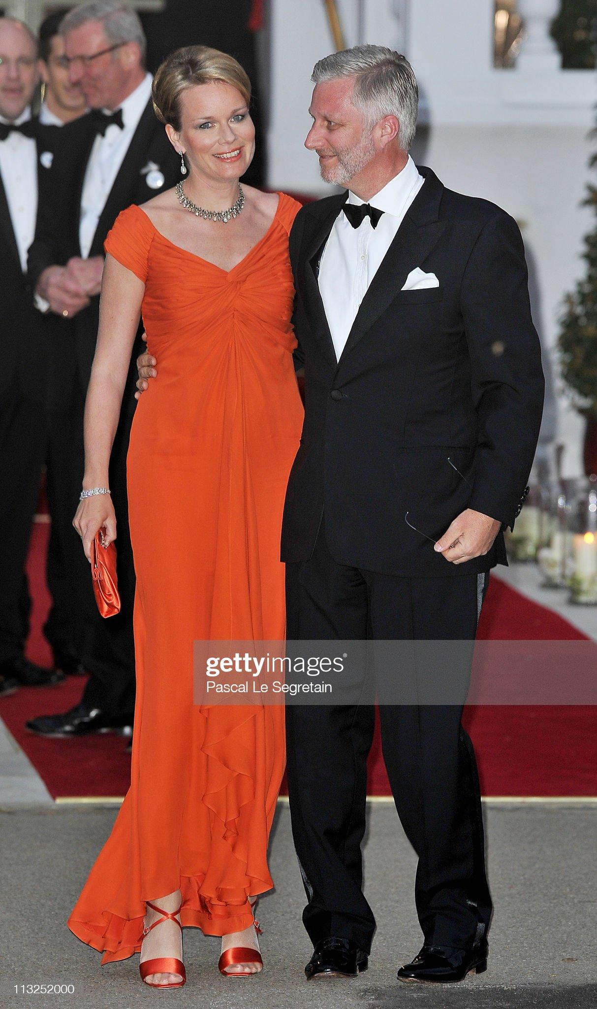Вечерние наряды Королевы Матильды Royal Wedding - Pre-Wedding Dinner : News Photo