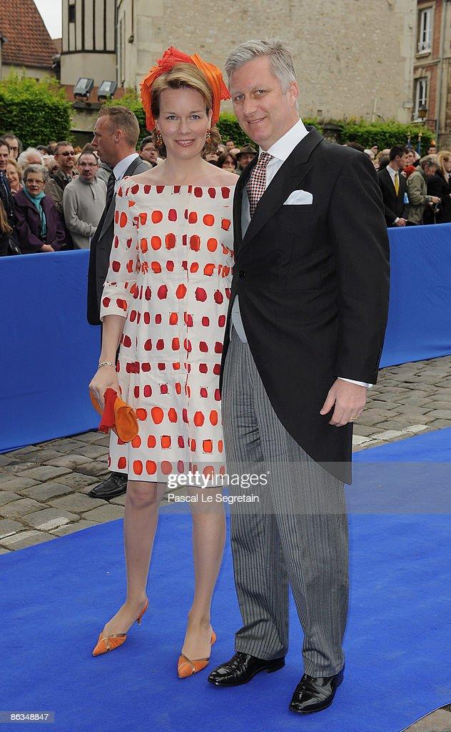 Duc de Vendome and Philomena de Tornos Celebrate Wedding in Senlis : News Photo