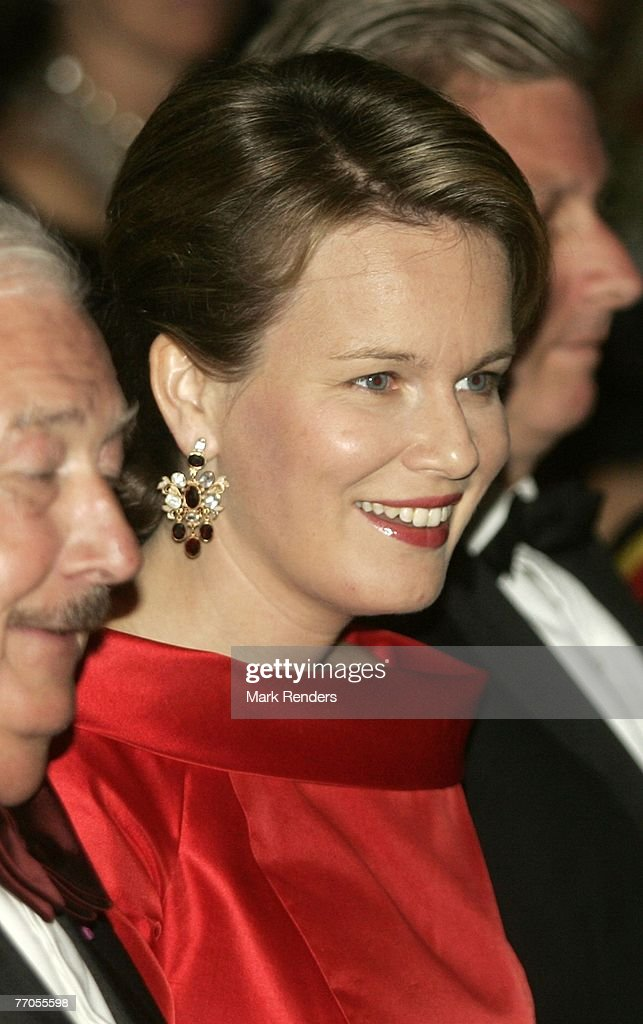 Prince Philippe and Princess Mathilde Attend A Gala Evening : News Photo