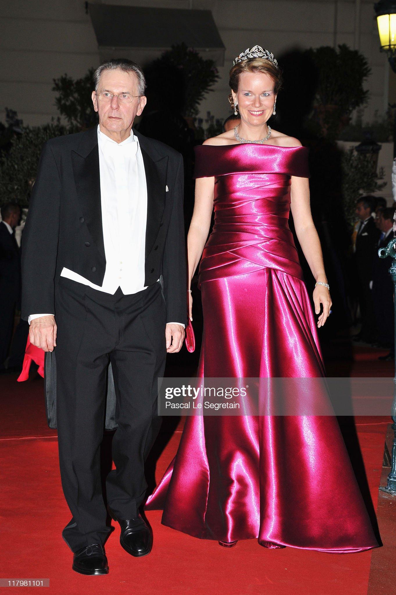 Вечерние наряды Королевы Матильды Monaco Royal Wedding - Dinner and Fireworks : News Photo