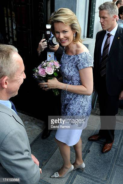 Princess Mathilde of Belgium attends the concert held ahead of Belgium abdication coronation on July 20 2013 in Brussels Belgium