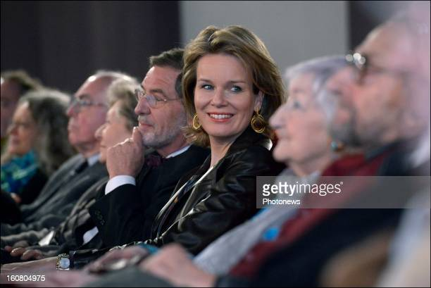 Princess Mathilde of Belgium attends the screening of the movie 'Kinshasa Kids' on February 5 2013 in Brussels Belgium