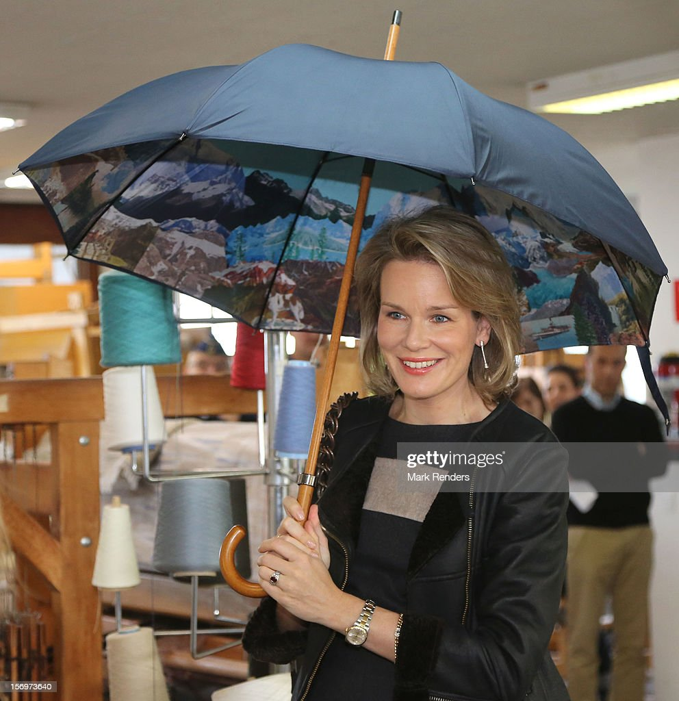 Princess Mathilde Of Belgium Visits ENFAV Arts Academy