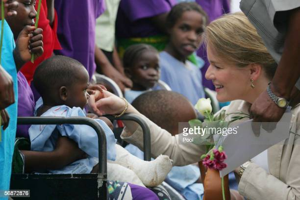 Princess Mathilde of Belgium visits CCBRT an NGO to alleviate poverty by making affordable services for disabled people who are the poorest of the...