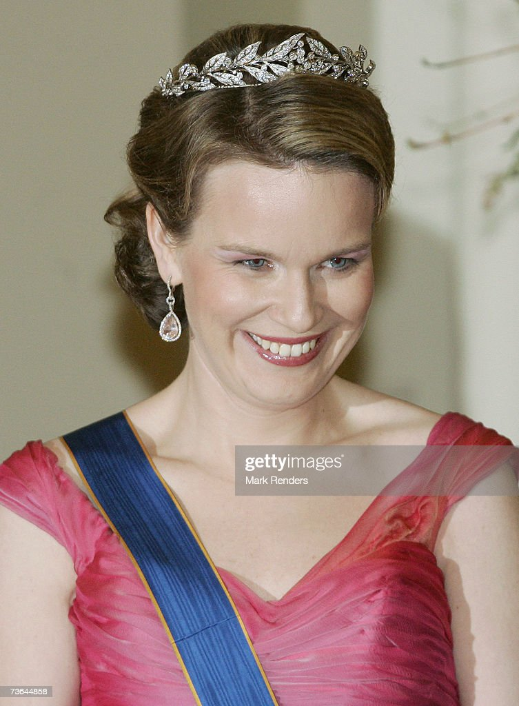 Princess Mathilde poses for a photo at Laeken Castle on March 20 , 2007 in Brussels, Belgium. The Grand Duke From Luxembourg and his wife Maria Theresa are in Belgium for a three day during State Visit.