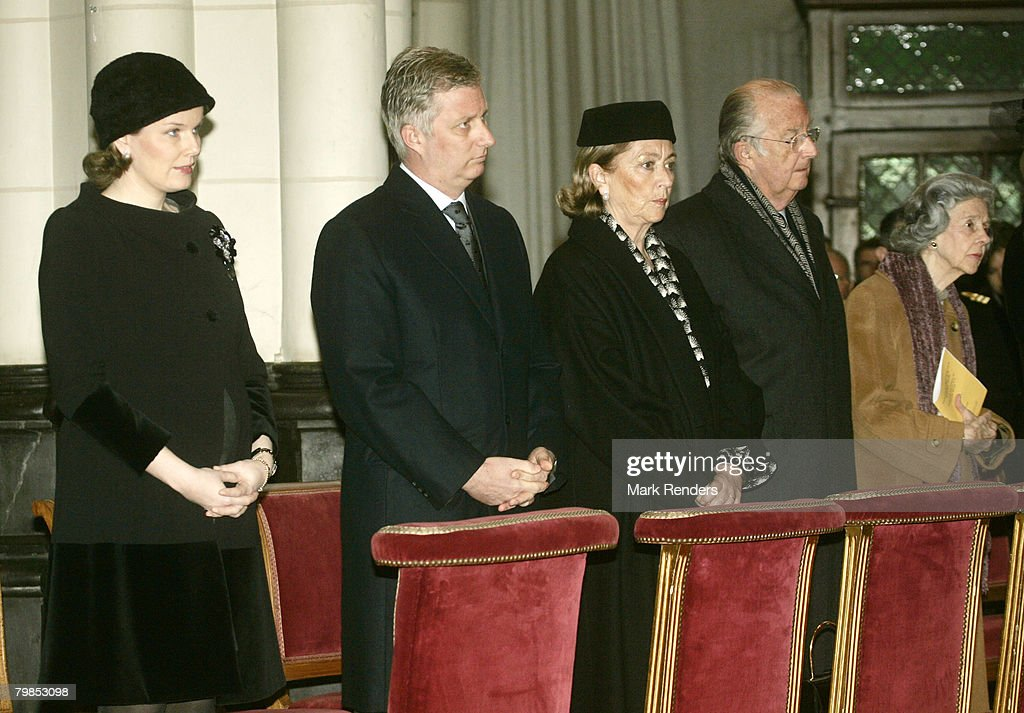 Belgian Royals Attend Memorial Service For King Baudouin I of Belgium
