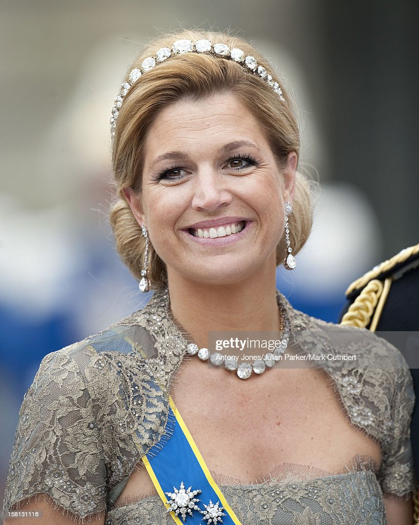 Princess Maxima At The Wedding Of Crown Princess Victoria Of Sweden And Daniel Westling At Stockholm Cathedral.