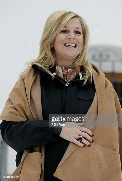 Princess Maxima during The Dutch Royal Family's Ski Holiday February 11 2007 in Lech Austria
