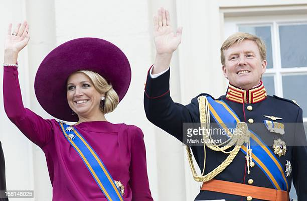 Princess Maxima Of Netherlands And Prince Willem Alexander Of Netherlands On The Balcony During Princes Day At The Noordeinde Palace In Den Haag...