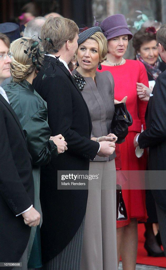 Royal Wedding of Prince Carlos de Bourbon de Parme and Princess Annemarie de Bourbon de Parme-Gualtherie van Weezel in Abbaye de la Cambre, Elsene : ニュース写真