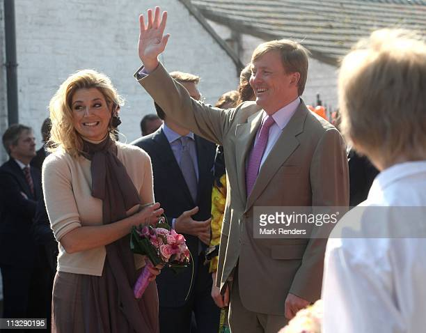 Princess Maxima of The Netherlands and Prince Willem Alexander of The Netherlands celebrate Queens Day on April 30 2011 in Thorn Netherlands
