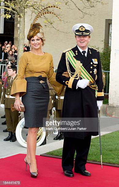 Princess Maxima of the Netherlands and Prince WillemAlexander of the Netherlands attend the wedding ceremony of Prince Guillaume Of Luxembourg and...