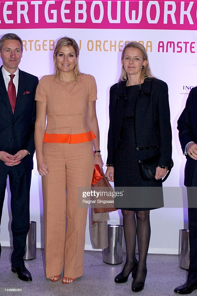 Princess Maxima Attends Concert with the Dutch Royal Concertgebouw Orchestra in London
