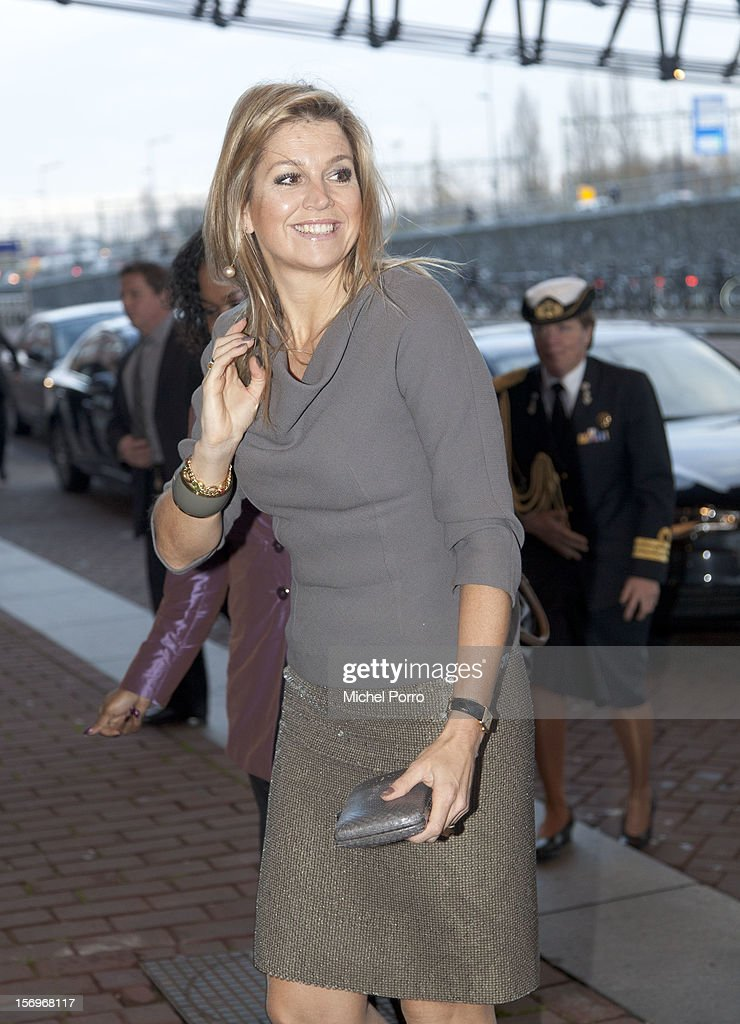 Princess Maxima of The Netherlands arrives to award the Prince Bernhard Culture Prize at the Music Centre on November 26, 2012 in Amsterdam, Netherlands.