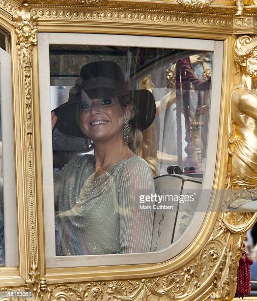 Princess Maxima Of The Netherlands At Princes Day At The Noordeinde Palace In Den Haag, Netherlands.