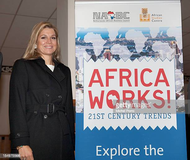 Princess Maxima of The Netherlands attends the AfricaWorks 21st Century Trends Conference on October 29, 2012 in Zeist, Netherlands.
