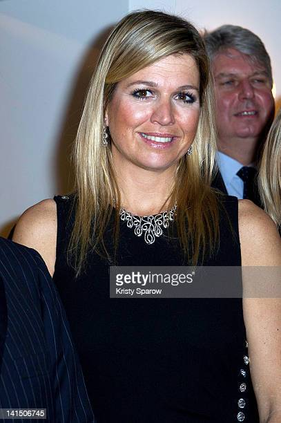 Princess Maxima of the Netherlands attends the 'Royal Concertgebouw Orchestra' concert at Salle Pleyel on March 17 2012 in Paris France
