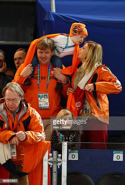Princess Maxima of the Netherlands His Royal Highness Prince WillemAlexander of Netherlands and daughters watch the men's 5000 m Speed Skating on day...