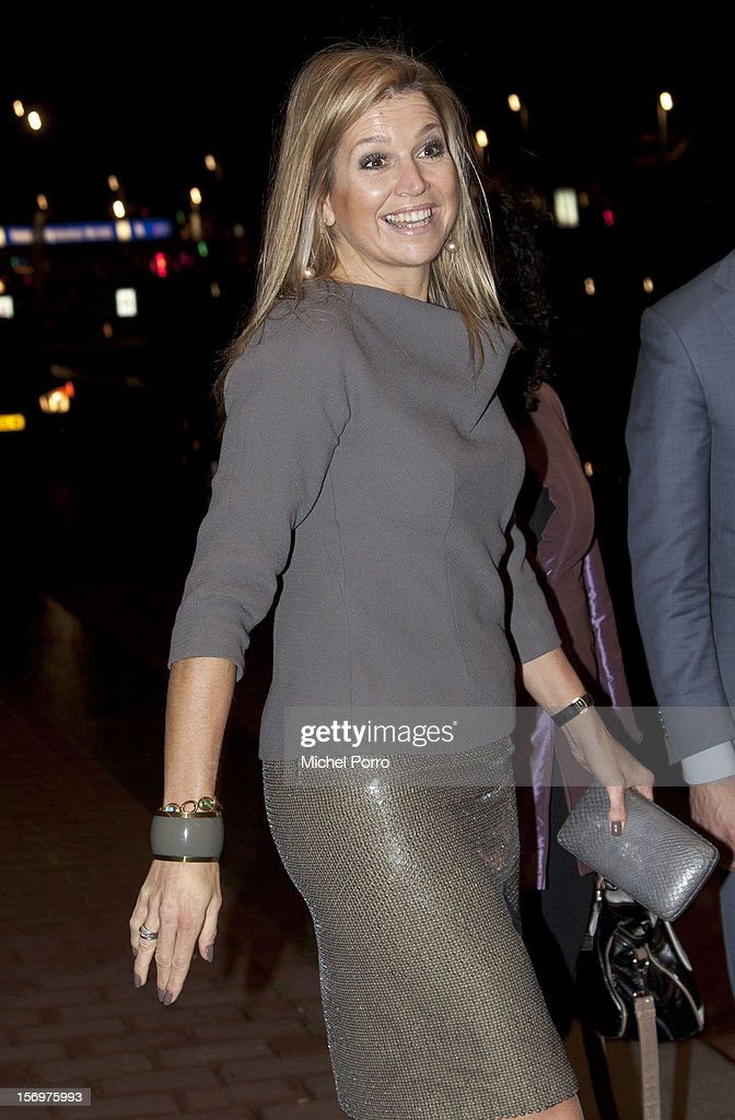 Princess Maxima of the Netherlands leaves after award ceremony of the Prince Bernhard Culture Prize on November 26, 2012 in Amsterdam, Netherlands.