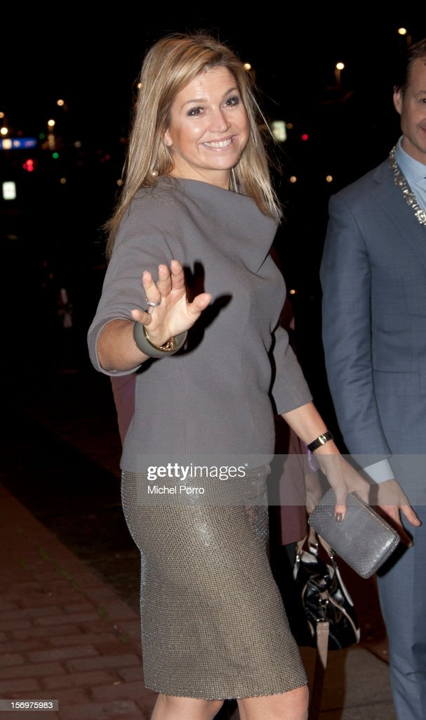 Princess Maxima of the Netherlands leaves the award ceremony of the Prince Bernhard Culture Prize on November 26, 2012 in Amsterdam, Netherlands.
