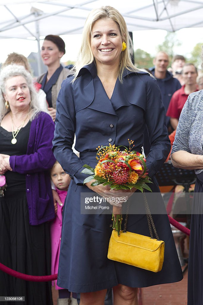 Princess Maxima of Netherlands Opens Women's Shelter : News Photo