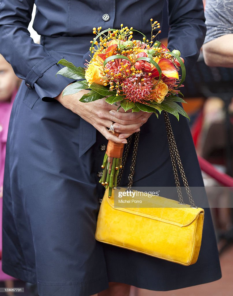 Princess Maxima of Netherlands Opens Women's Shelter : News Photo
