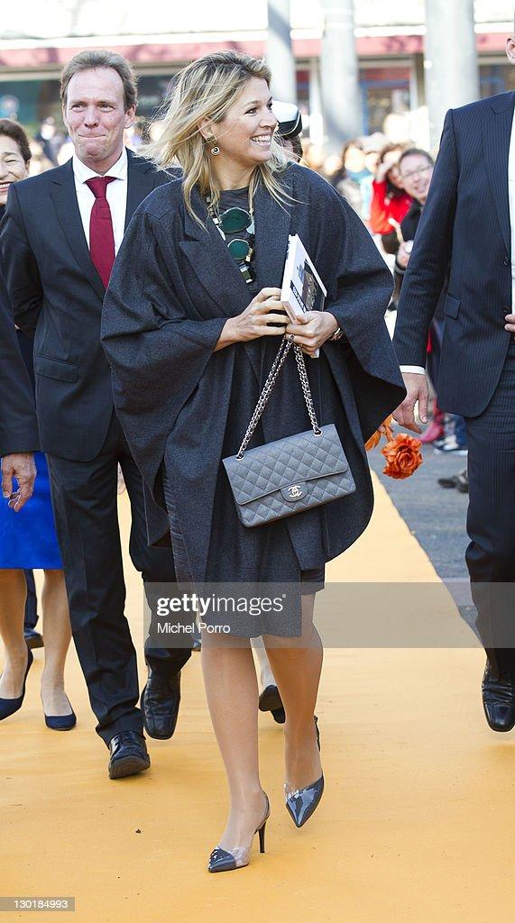 Crown Princess Maxima of Netherlands Opens Dutch Design Week : News Photo