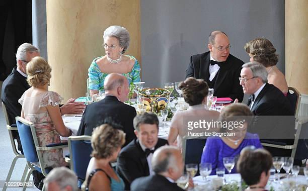 Princess Maxima of the Netherlands Princess Benedikte zu SaynWittgensteinBerleburg Prince Albert of Monaco Princess Mathilde of Blegium attend the...