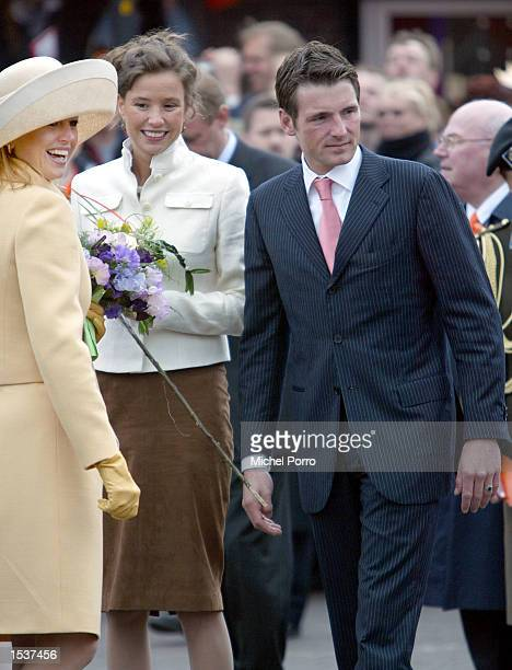 """Princess Maxima , Princess Marilene and her husband Prince Maurits attend the celebrations for Dutch Queen Beatrix """"Queen's Day"""" April 30, 2002 in..."""