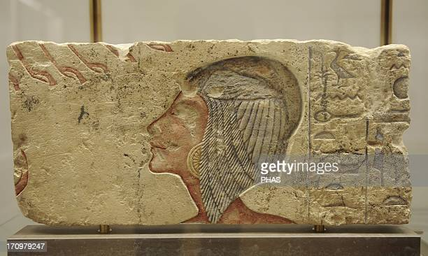 Princess Meritaten Relief with traces of polychromy Limestone Probably from elAmarna Egypt Amarna Period c 13651347 BC Ny Carlsberg Glyptotek...