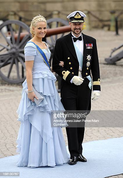 Princess Mette Marit And Prince Haakon Of Norway At The Wedding Of Crown Princess Victoria Of Sweden And Daniel Westling At Stockholm Cathedral