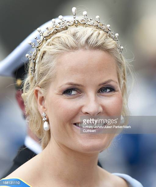 Princess Mette Marit At The Wedding Of Crown Princess Victoria Of Sweden And Daniel Westling At Stockholm Cathedral