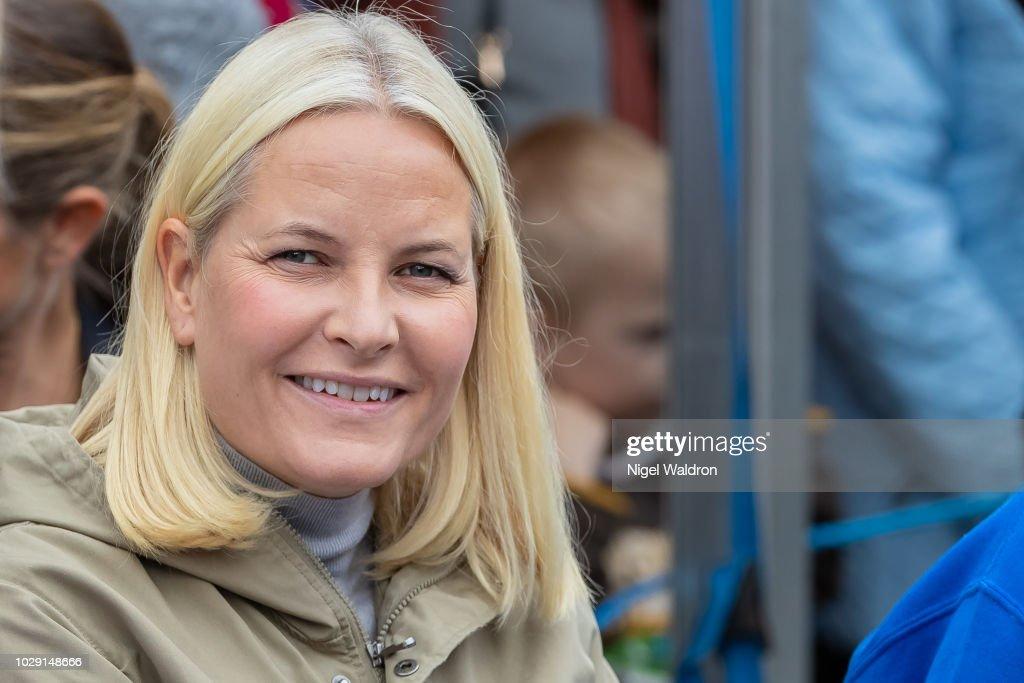 Crown Princess Mette Marit Attends The Mortensrud Festival : News Photo