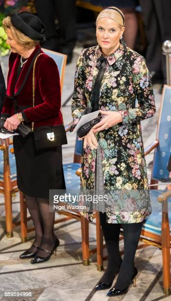 Princess Mette Marit of Norway attends the Nobel Peace Prize ceremony at Oslo City Town Hall on December 10 2017 in Oslo Norway