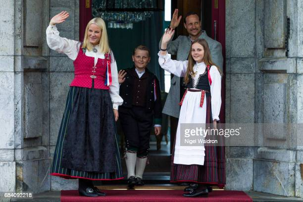 Princess Mette Marit of Norway Prince Haakon of Norway Prince Sverre Magnus of Norway Princess Ingrid Alexandra of Norway during the children's...