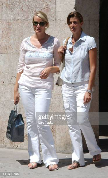 Princess Mette Marit of Norway with her Spanish friend Rosario Nadal