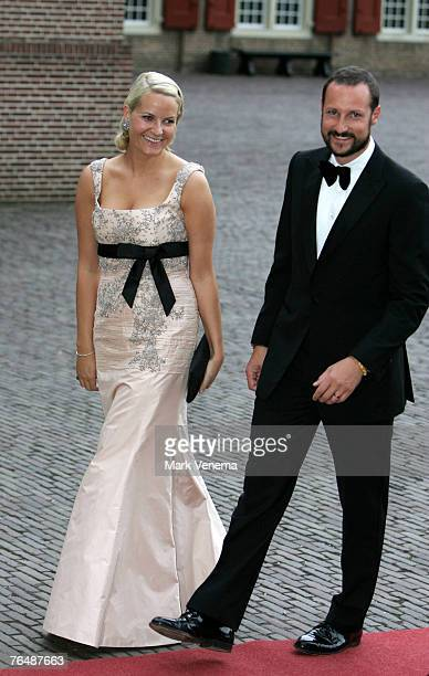 Princess MetteMarit and Prince Haakon of Norway arrive at Palace The Loo in Apeldoorn to attend the party marking the 40th birthday of Crown Prince...