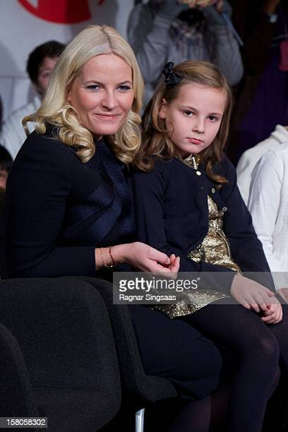 Princess Mette-Marit of Norway and Princess Ingrid Alexandra of Norway attend the Save the Children's Peace Prize Festival at Nobel Peace Centre on...