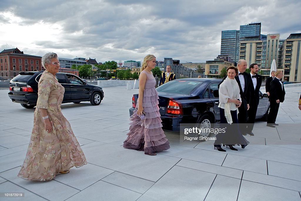 Princess Mette-Marit of Norway arrives at the National Opera House on June 2, 2010 in Oslo, Norway.