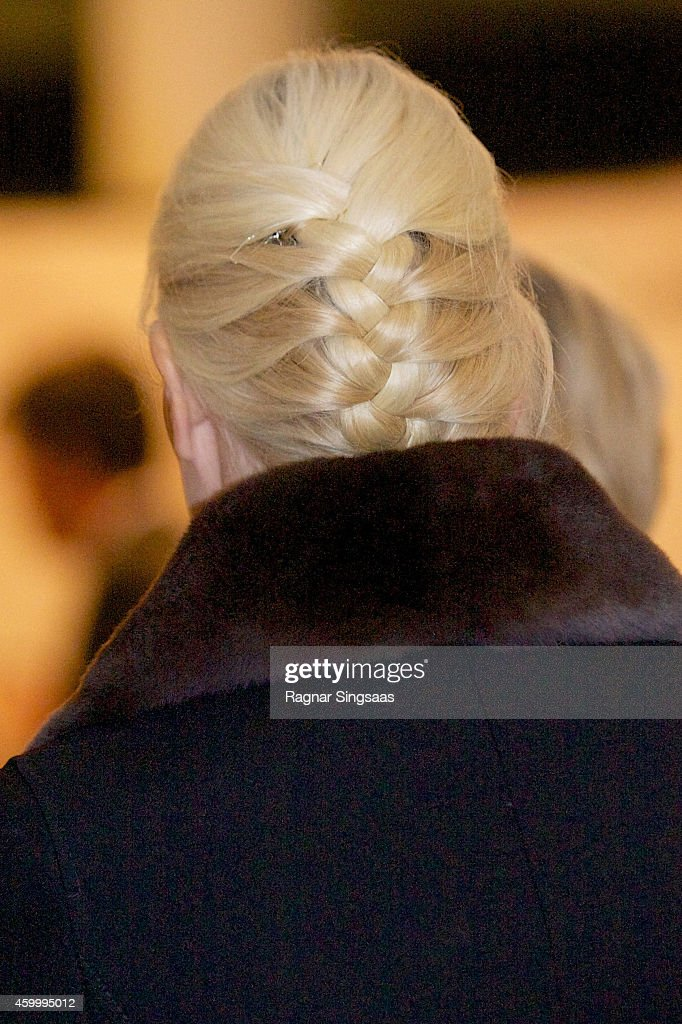 Princess Mette-Marit of Norway (hair detail) attends the 75th Anniversary of the Norwegian People's Aid on December 5, 2014 in Oslo, Norway.