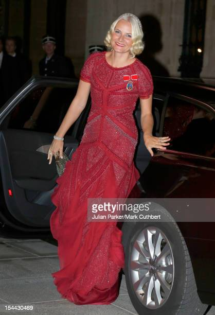Princess MetteMarit of Norway attends the Gala dinner for the wedding of Prince Guillaume Of Luxembourg and Stephanie de Lannoy at the Grandducal...